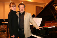 with the singer Tatjana Prokushkina in Vladimir