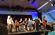 The Ensemble of students in Hallbergmoos